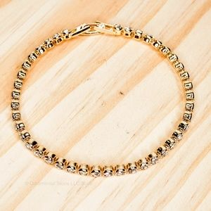 Crystal Full Row Diamond Bracelet Gold #40